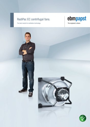 RadiPac EC centrifugal fans - The best results for ventilation technology