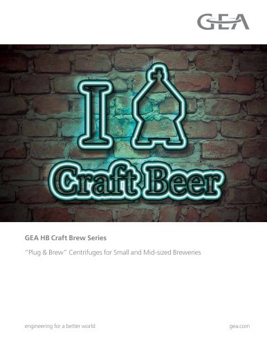 "GEA ""Plug & Win"" Centrifuge Skids for Craft Brewers"