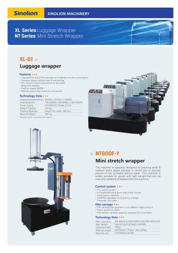 Sinolion LUggage wrapper XL-01  and  Mini stretch Wrapper  NT600F
