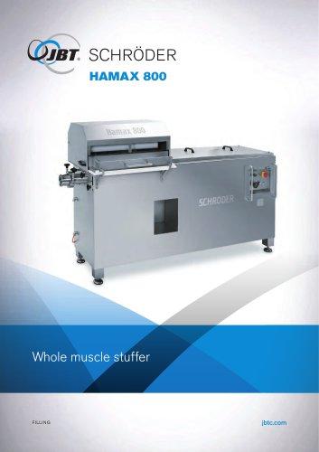 HAMAX 800 Whole muscle stuffer