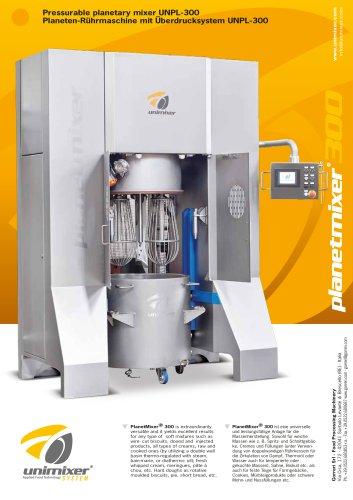 Pressurable planetary mixer UNPL-300