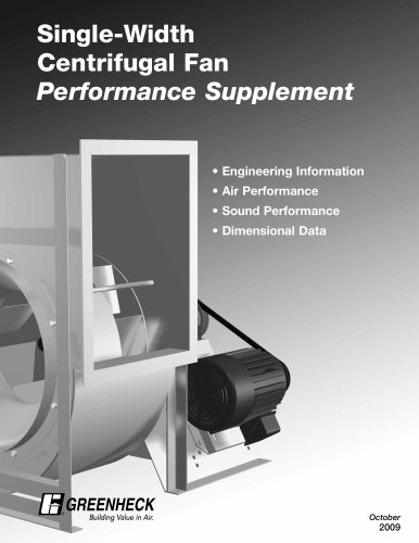 Centrifugal Fan Performance Supplement - Single Width