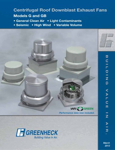 Centrifugal Roof Exhaust Fans (Models G/GB)