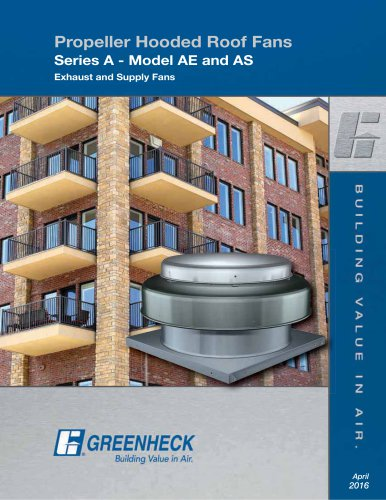 Propeller Hooded Roof Fans - Series A (Model AE/AS)