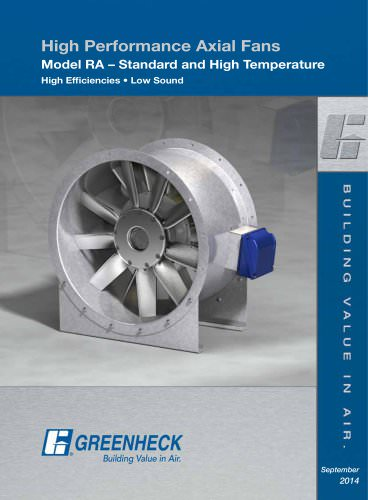 RA (High Performance, High Efficiency Axial Fans)