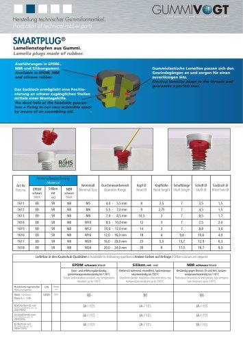 SMARTPLUG®   Lamellar stops made of rubber