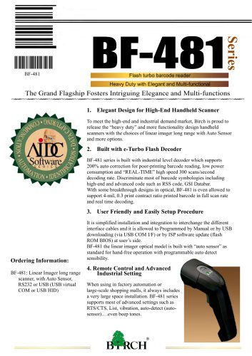 BF-48 - Birch Technology Inc  - PDF Catalogs | Technical