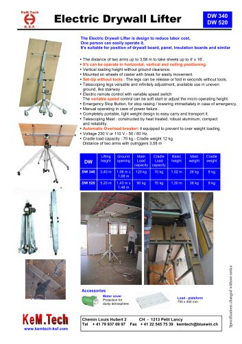 Electric Drywall Lifter