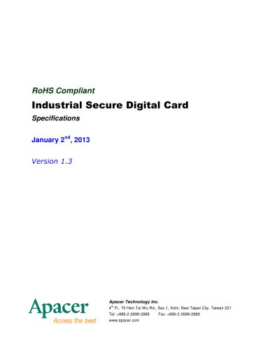 Apacer Industrial SD