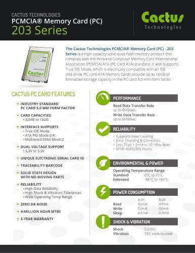 Cactus PC-Card 203 Series