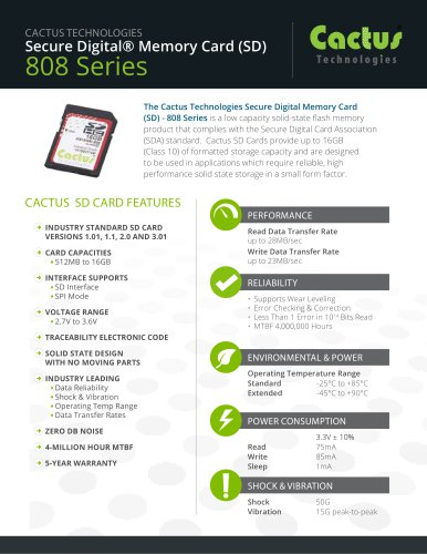 Cactus SD Card 808 Series