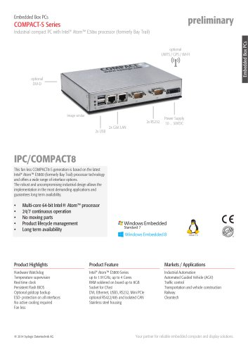 Embedded PC/COMPACT8 - S