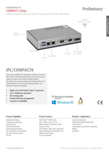 Embedded PC/COMPACT81 - S