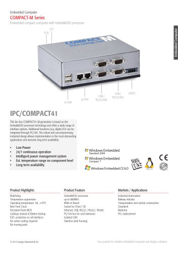 M ? Embedded PC/COMPACT41