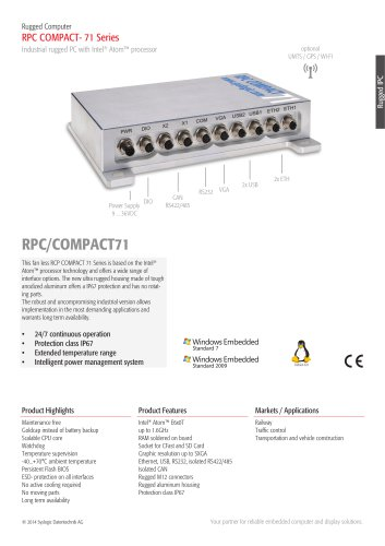 Railway Computer/RPC COMPACT71