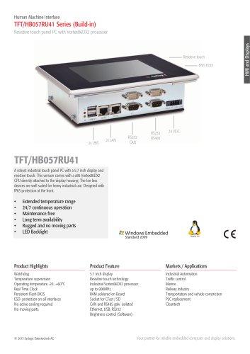 TFT/HB057RU41 Series (Build-in)