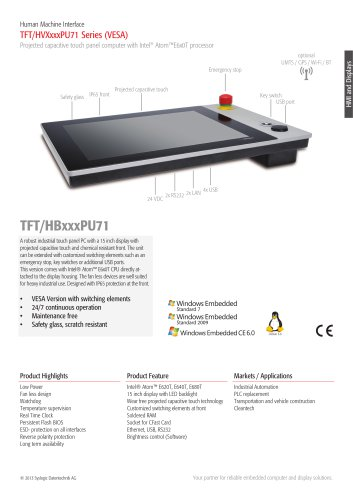 TFT/HVXxxxPU71 Series (VESA)