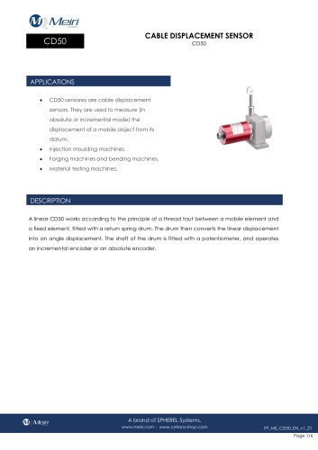 CD50 CABLE DISPLACEMENT SENSOR