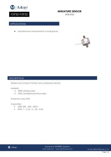 F5930-F5932 MINIATURE SENSOR