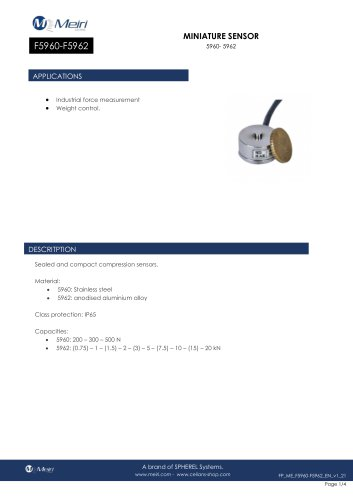 F5960-F5962 MINIATURE SENSOR