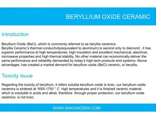 Beryllia Ceramic
