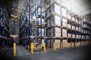 estante industrial para paletes compactas