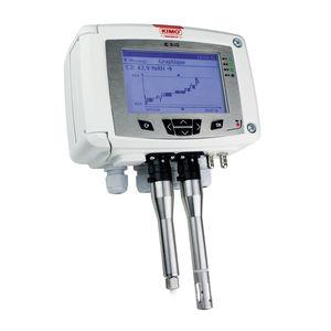 medidor de temperatura / de pressão / de umidade relativa / de concentração de CO2