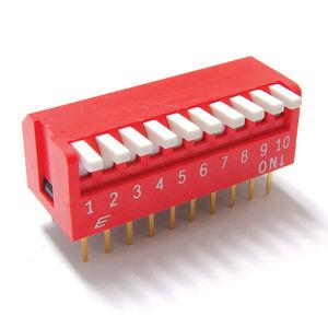 interruptor tipo piano / DIP / multipolar / eletromecânico