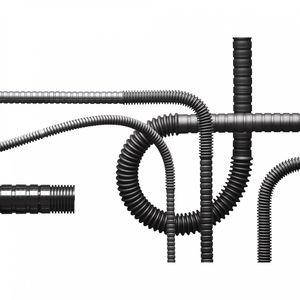 tubo rígido de proteção / em plástico / flexível / resistente à abrasão