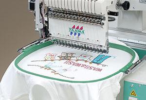 máquina de bordar de cabeçote único