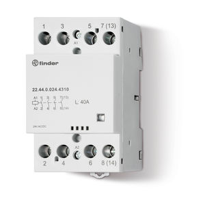 contator modular / trifásico / multipolar / monofásico