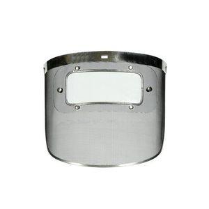 protetor facial em aço inoxidável