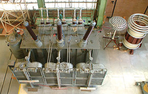 sistema de teste para transformador de potência
