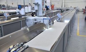 máquina de costura de tecidos