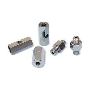 adaptador para vácuo / com rosca / em latão / em aço galvanizado