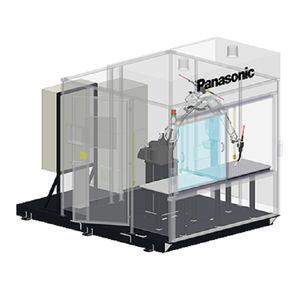 célula robotizada de soldagem por arco