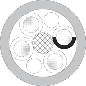 cabo óptico híbrido