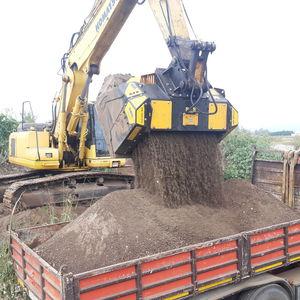 caçamba crivadora trituradora / para escavadeira hidráulica / para carregadeira / para retroescavadeira