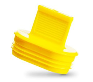 tampão de aletas / oval / macho / em plástico