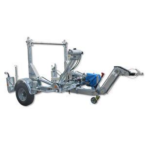 reboque com 1 eixo / para transporte e instalação de tubos / porta bobinas / hidráulico