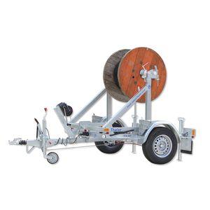 reboque com 1 eixo / para transporte e instalação de tubos / porta bobinas / basculante