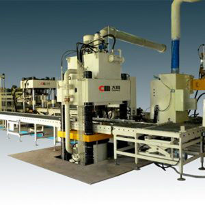 linha de prensas para rebolos