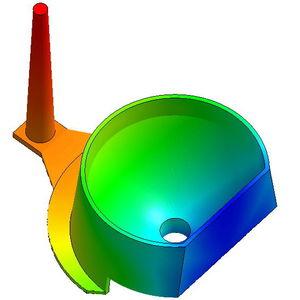 software de simulação de moldagem por injeção / de processo / de processo de injeção de plásticos