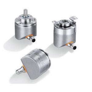 encoder rotativo em aço inoxidável / incremental / IO-Link / de eixo maciço