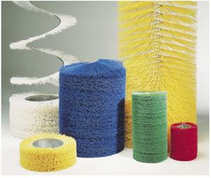 escova cilíndrica espiral / para raspar / em plástico