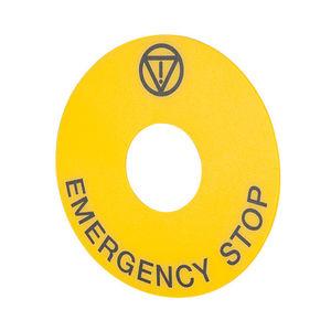 etiqueta indicador de emergência
