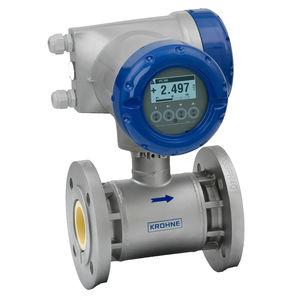 medidor de vazão eletromagnético / para água / para óleo / para produtos químicos