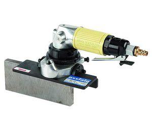 chanfradeira-rebarbadora pneumática / portátil / para extremidades retas / raio de fresagem