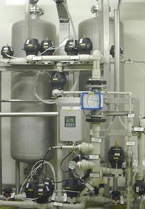 abrandador de água por troca iônica em leito misto