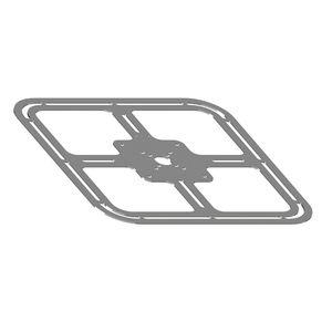 placa de suporte em aço